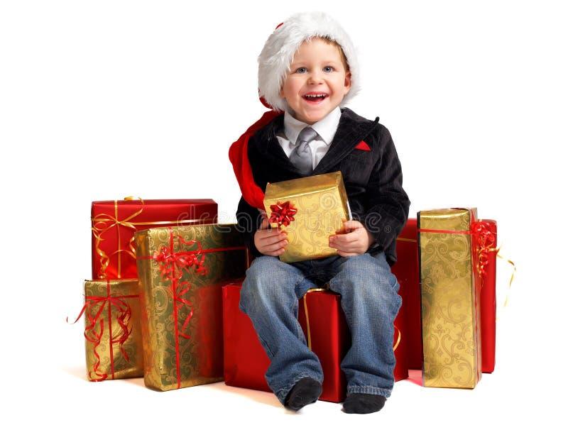 prezenty świąteczne maleńka zdjęcie stock
