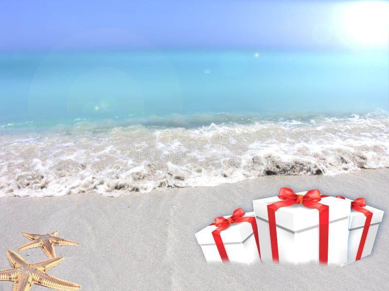 Prezenty tropikalna plaża obraz stock
