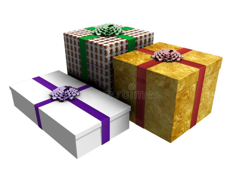 prezenty trzy royalty ilustracja