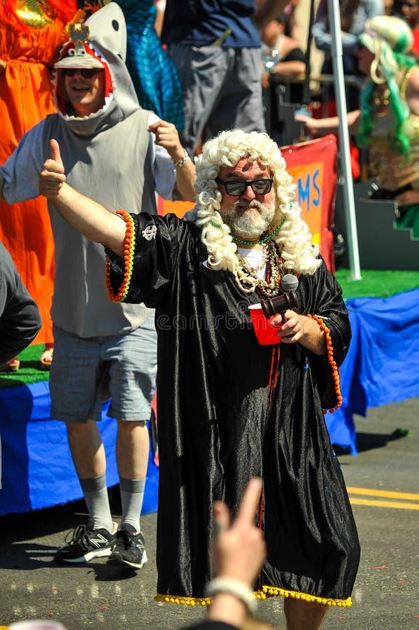 Prezes Sądu przy 36th roczną syrenki paradą w Coney Island fotografia stock