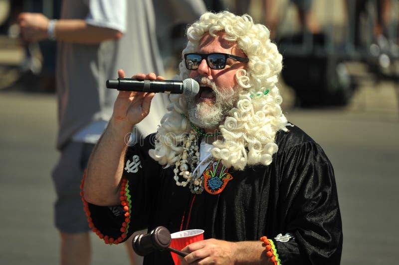 Prezes Sądu przy 36th roczną syrenki paradą w Coney Island obrazy royalty free