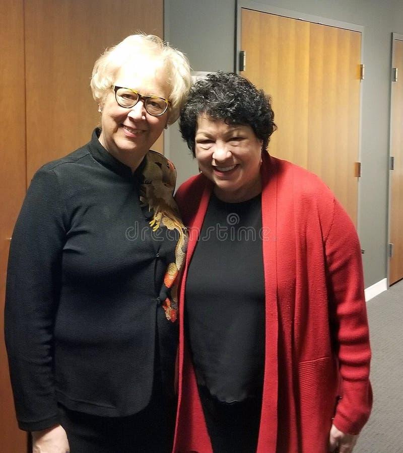 Prezes Sądu Sonia Sotomayor i przyjaciel obraz stock
