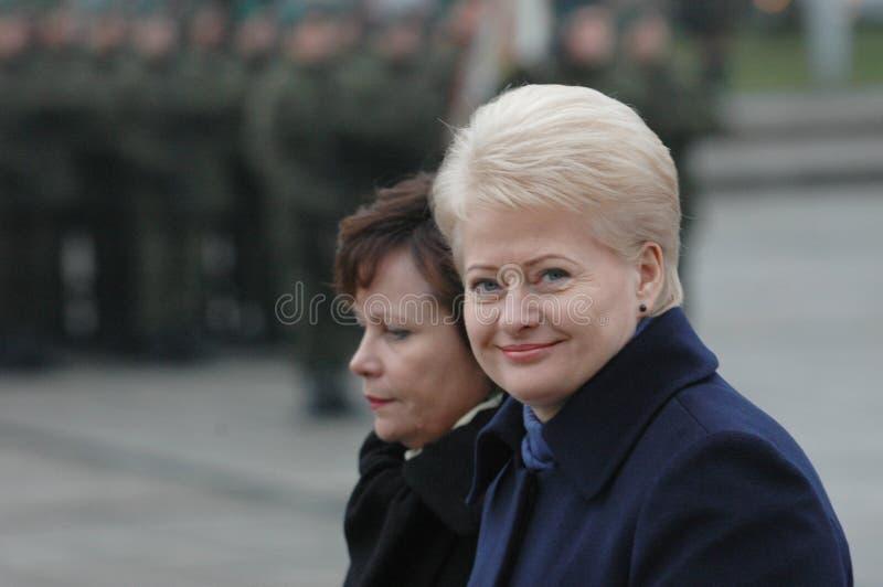 Prezident van Litouwen Dalia Grybauskaite royalty-vrije stock foto's