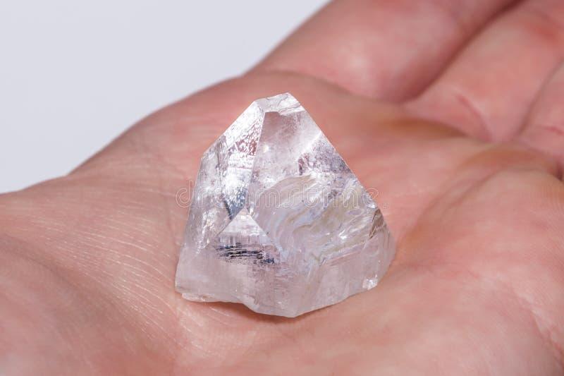 Prezioso minerale del chiaro del diamante della pietra preziosa gioiello di cristallo bianco della gemma fotografia stock