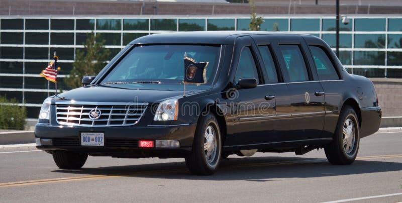 Prezydencki kawalkady samochodów ` bestii ` obraz stock