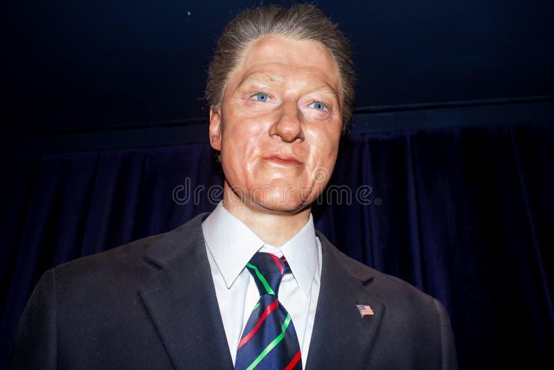 Prezydent Bill Clinton - wosk statua zdjęcia royalty free