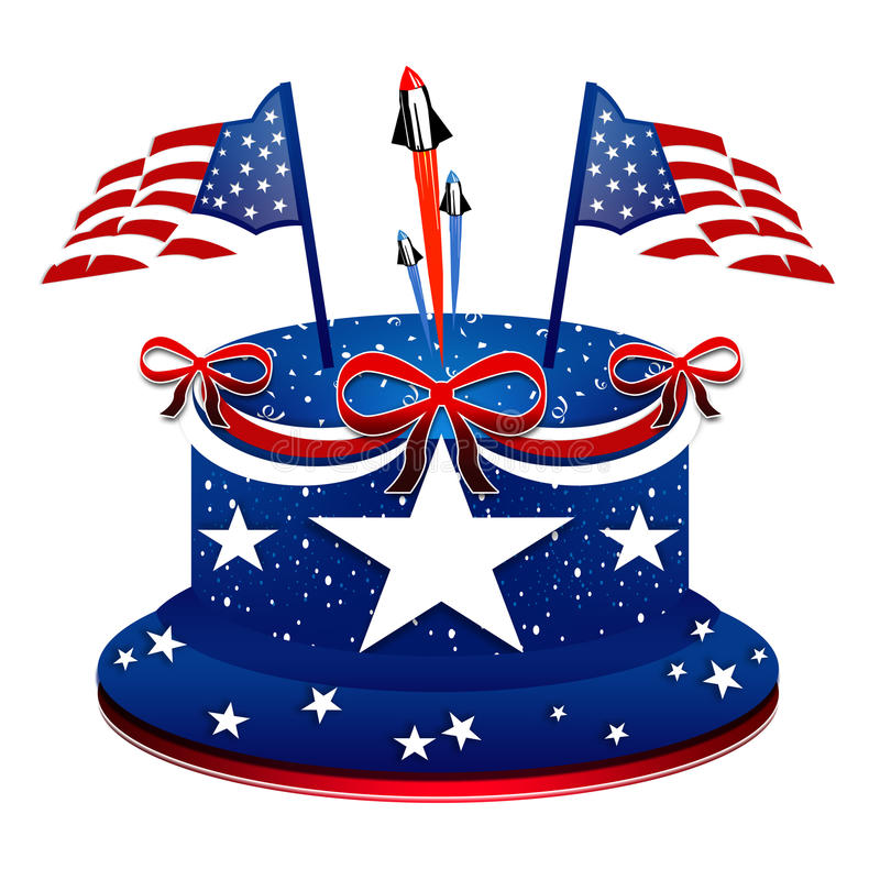 Prezydent dzień - Patriotyczny tort ilustracji