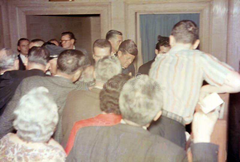 Prezydent John F Kennedy, JFK, Tłum w Teksas zdjęcie stock