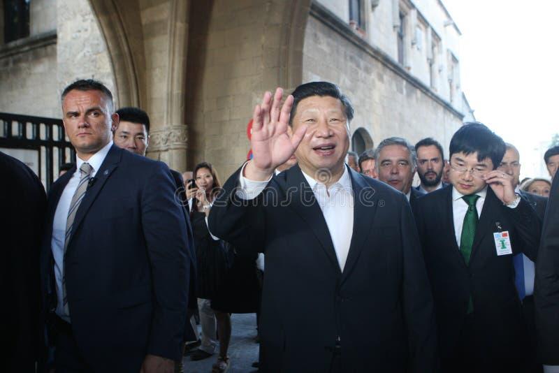 Prezydent ludzie republiki Chiny XI. Jinping zdjęcie royalty free