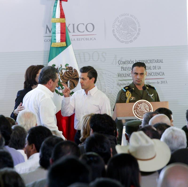 Prezydent Meksyk, Enrique peña Nieto zdjęcie stock
