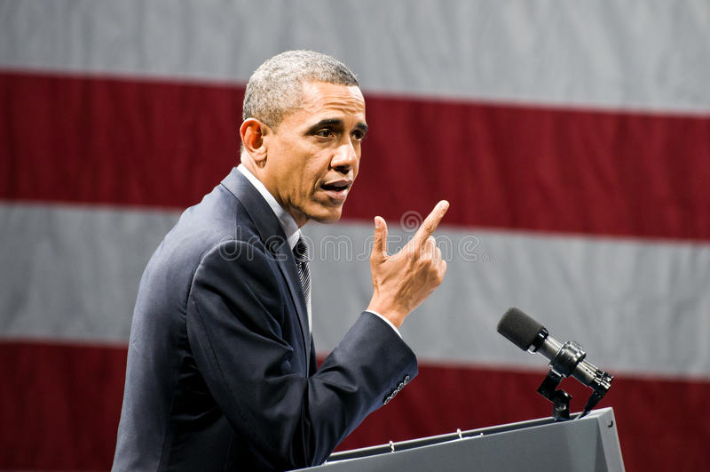 Prezydent Obama obrazy stock