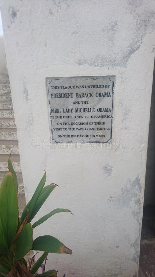 Prezydent Obama & Michelle plakieta obrazy royalty free