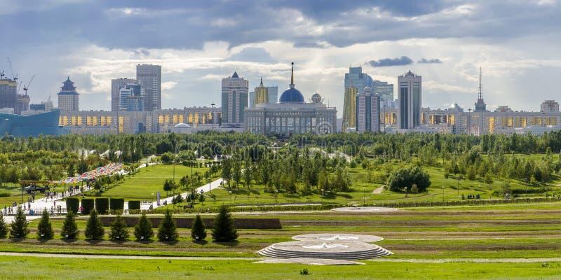 Prezydent park w Astana, Kazachstan obraz royalty free