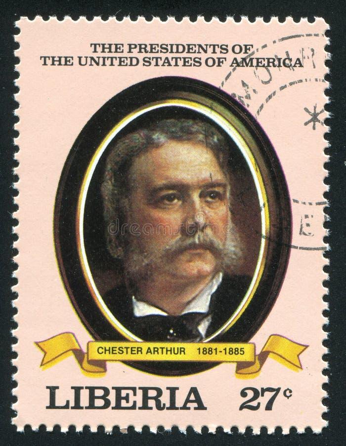 Prezydent Stanów Zjednoczonych Chester Arthur zdjęcie stock