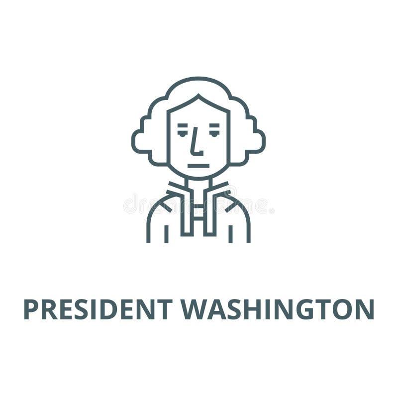 Prezydent usa, Washington, judje wektoru linii ikona, liniowy pojęcie, konturu znak, symbol ilustracja wektor