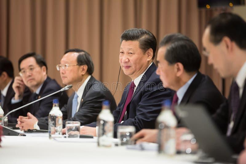 Prezydent Zaludnia republiki Chiny XI. Jinping obrazy stock