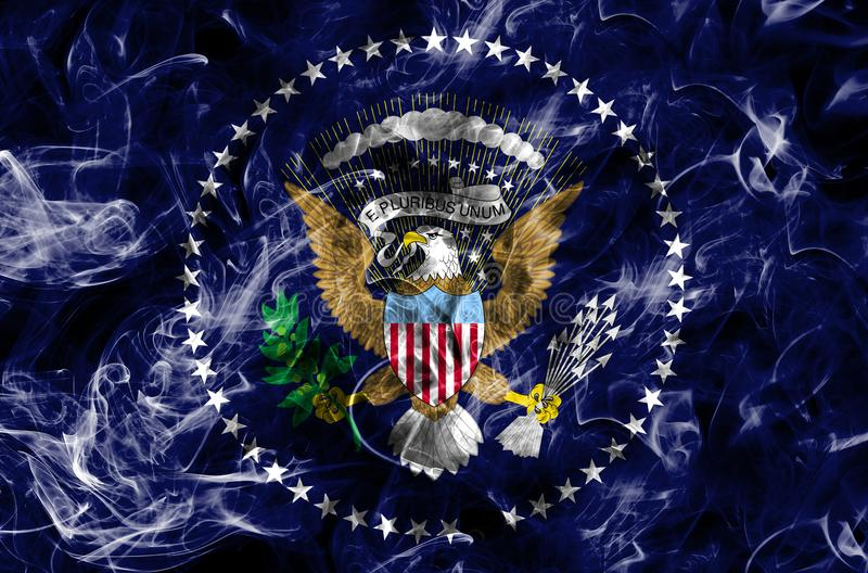Prezydenta dymu flaga, Stany Zjednoczone Amer obrazy stock