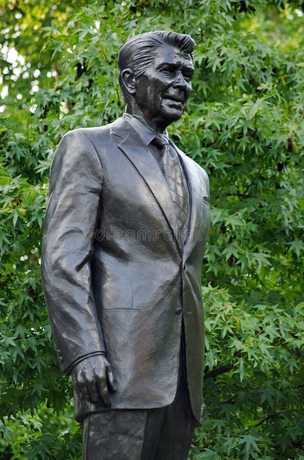 Prezydenta Ronald Reagan statua, Grosvenor kwadrat, Londyn zdjęcie royalty free