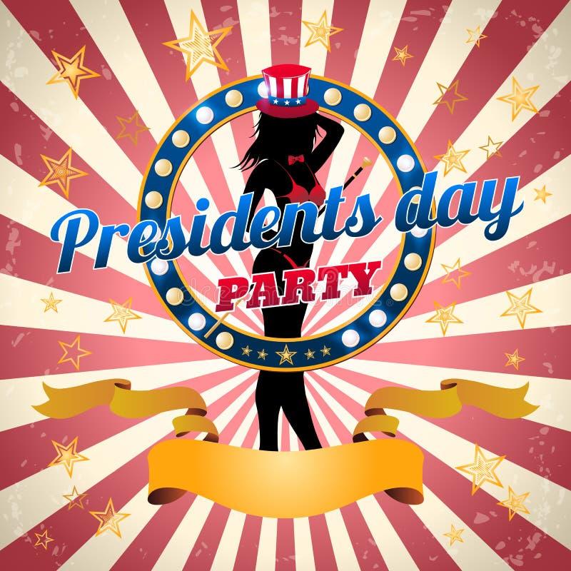 Prezydenta ` s dnia przyjęcie, wektorowy szablon ilustracja wektor