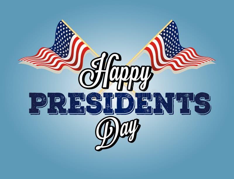 Prezydenta ` s dnia tło ilustracja wektor
