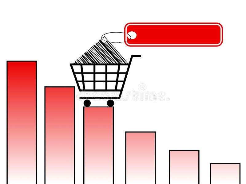 Prezzi in aumento illustrazione vettoriale