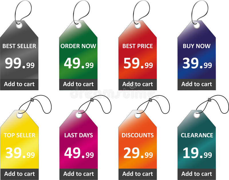 Prezzi da pagare illustrazione vettoriale