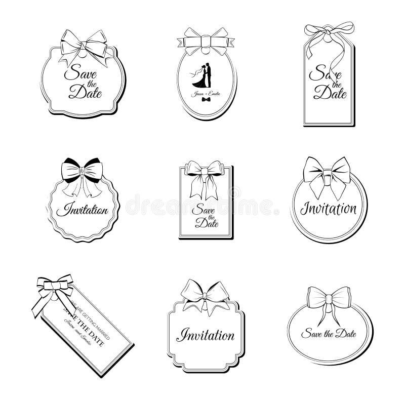 Prezzi da pagare con gli archi della cordicella messi Illustrazione di carta EPS10 di vettore di progettazione dell'etichetta royalty illustrazione gratis