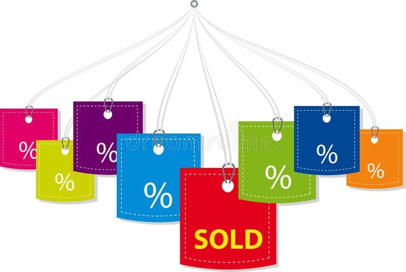 Prezzi da pagare di vettore illustrazione di stock
