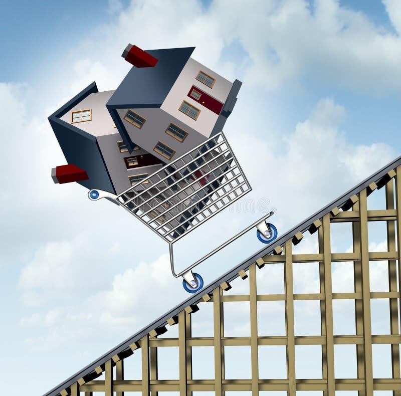 Prezzi della casa aumentanti illustrazione di stock