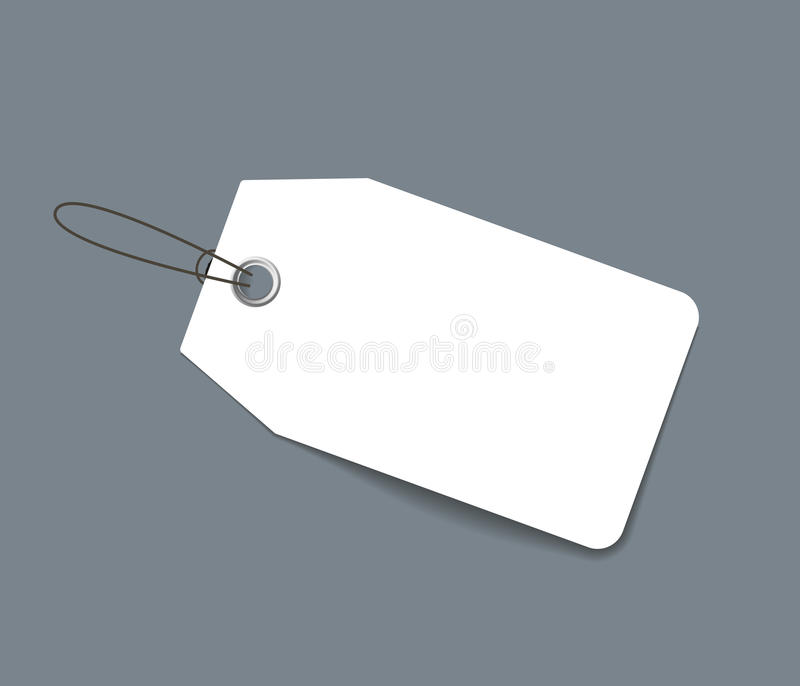 Prezzo da pagare o etichetta della carta in bianco illustrazione vettoriale
