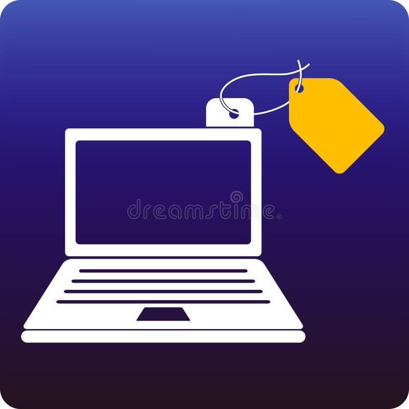 Prezzo del computer portatile illustrazione di stock