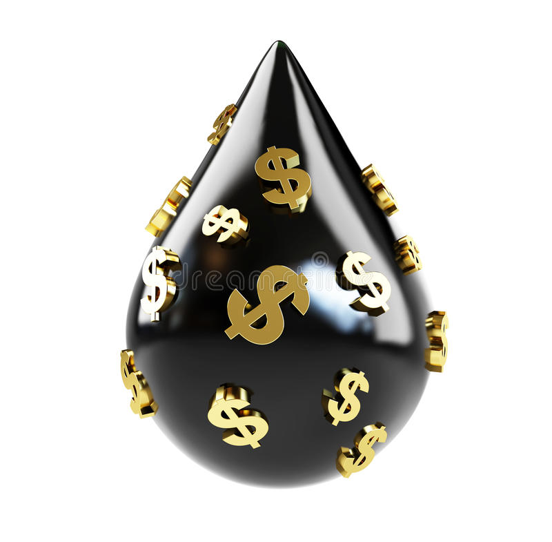 Prezzo in dollari dell'olio di olio illustrazione vettoriale