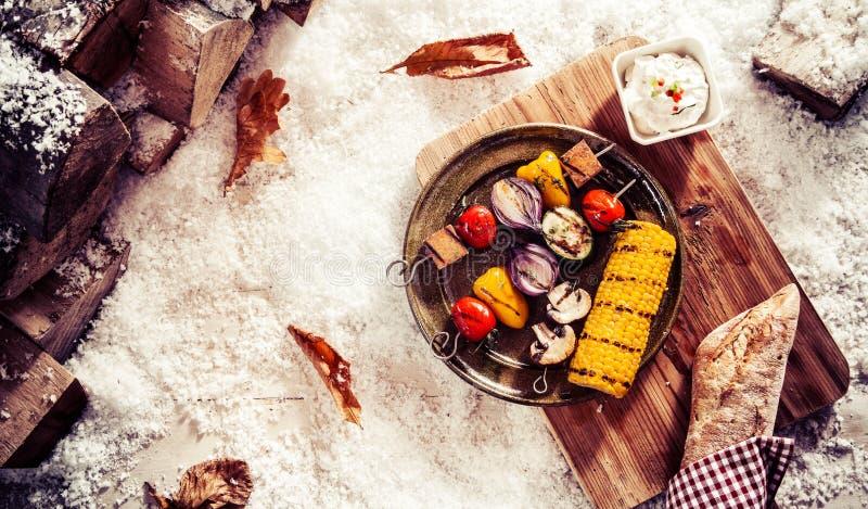 Prezzo saporito di inverno del vegano o del vegetariano fotografie stock