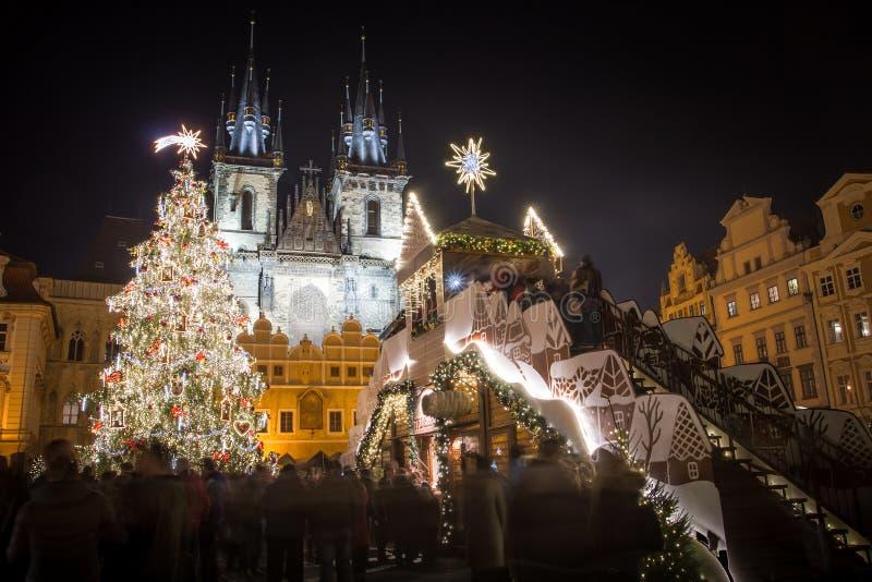 Prgue-Weihnachtsmarkt lizenzfreie stockfotografie