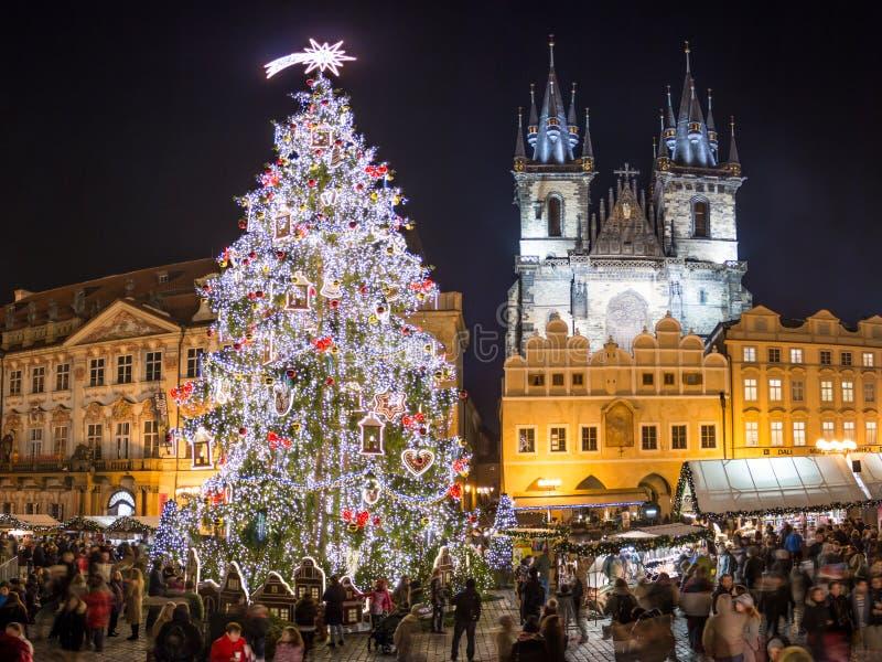 Prgue-Weihnachtsmarkt stockbild