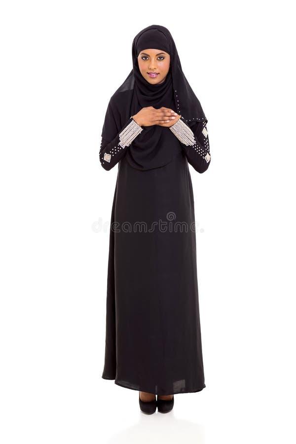 Prière arabe de femme photographie stock