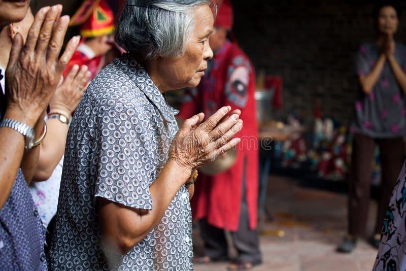 Prière chinoise images libres de droits