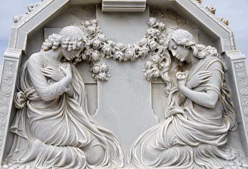 prière de 2 femmes images stock