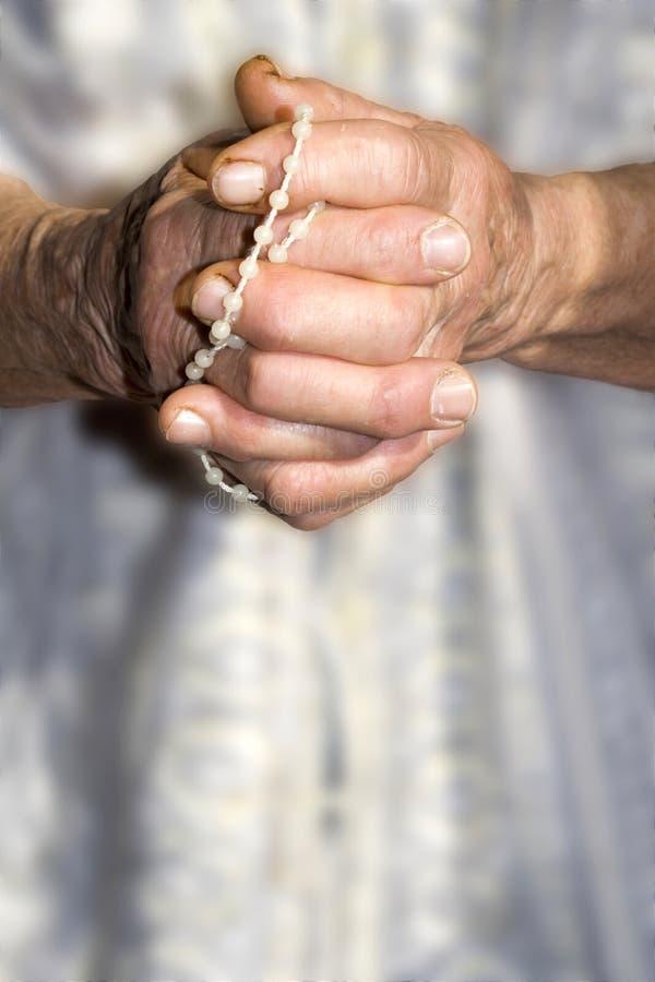 Prière de femme - mains images libres de droits