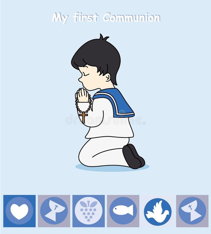 Prière de garçon illustration libre de droits