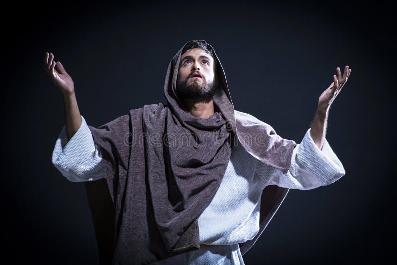 Prière de Jesuschrist photographie stock