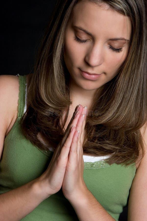 Prière de jeune fille photos stock