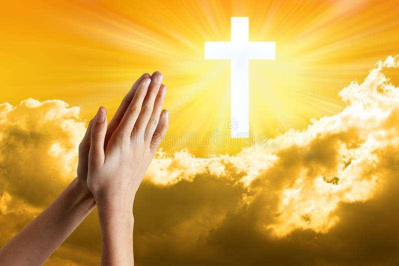 Prière de mains de prière photo stock