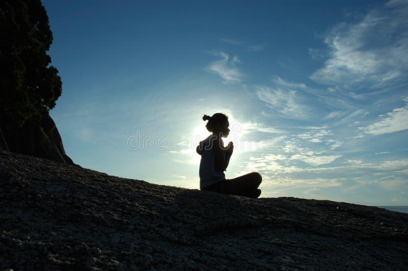 Prière du matin photographie stock libre de droits