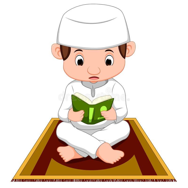 Prière musulmane de garçon illustration libre de droits
