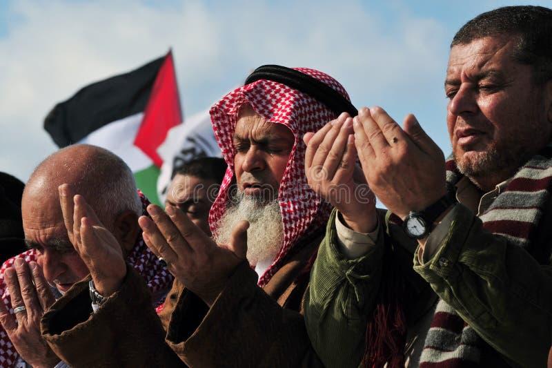 Prière palestinienne de gens photo libre de droits