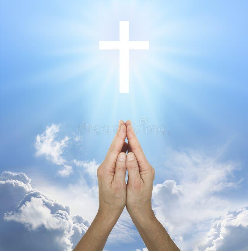 Prière pour la paix photographie stock