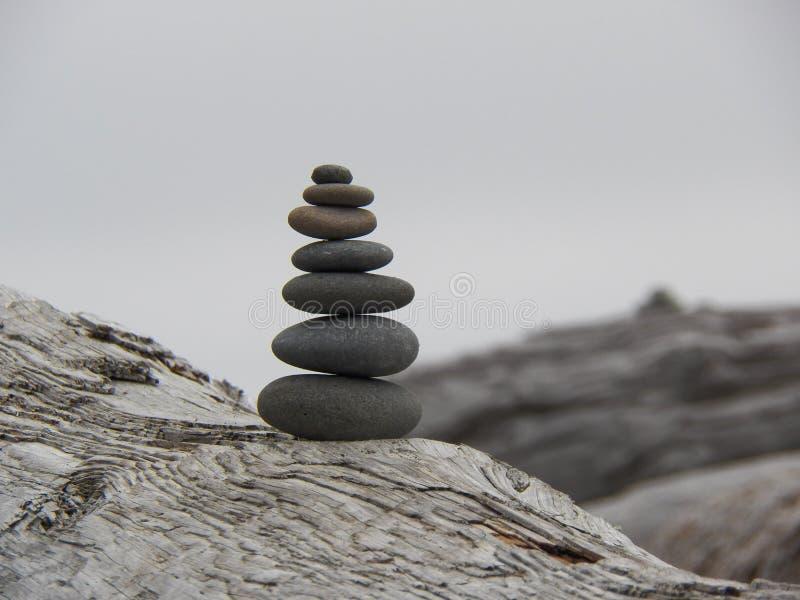 Prière sept en pierre image libre de droits