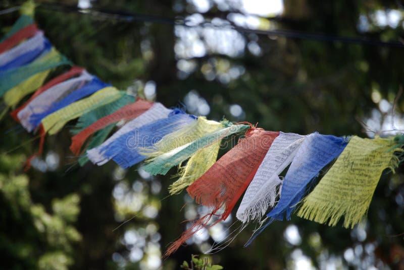 Prières sur le vent photo libre de droits