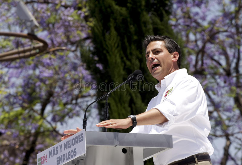 PRI candidate for president of Mexico royalty free stock images